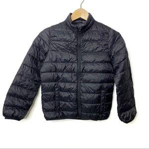 OLD NAVY Packable Puffer Jacket Zip Front Black Medium